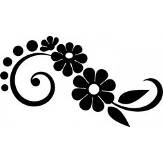 sticker floral 2 – T-Shirts & Sweaters Stencil Patterns, Stencil Designs, Embroidery Patterns, Hand Embroidery, Page Borders Design, Border Design, Flower Patterns, Flower Designs, Wood Burning Patterns