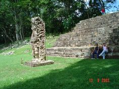 "Known for the sculptured ""Portrait Stelae"" the Honduran Mayan ruins at Copan portray some of the finest examples of this Maya Mesoamerican art form. ""Temple 16"" is the highest structure in this ancient Mayan temple archeological site  http://twitter.com/ChichenItzaBob"
