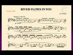 River Flows in You - Yiruma - Cornet Sheet Music, Chords, and Vocals
