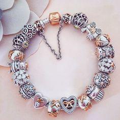 Two tone Pandora bracelet