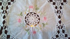 Lacy vintage embroidered tea tablecloth by KimberlyJvintage, $22.87