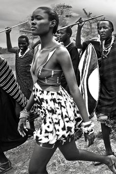 Marie Claire magazine fashion editorial. Styled by Jayne Pickering. Photographs by Wayne Maser. #masai