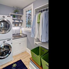 stacked washer and dryer means needing to find a space to fold...