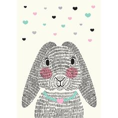Sparkling Paper Poster Mrs Rabbit - 30 x 42 cm Drawing For Kids, Art For Kids, Rabbit Crafts, Modern Dollhouse, Nursery Prints, Cute Illustration, Pattern Wallpaper, Wall Design, Stencil