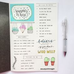 """studywithmaggie: """" 30.06.16 - summer started yesterday! so here's the first page of my summer journal! (≧◡≦) """""""