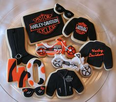 harley davidson themed wedding pictures | Harley Davidson cookies