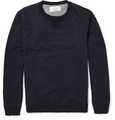Maison Martin Margiela Elbow Patch Loopback Cotton-Jersey Sweatshirt   MR PORTER