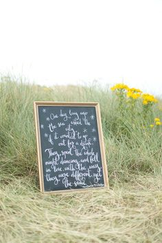 Magical sign featured in City and The Sea + Black, Blue + Beach Wedding Inspiration // Photography Paula McManus Photography, Event Design Grace and Saviour