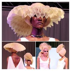 Queen Bees What an amazing grand finale by @aveda #teamcanada at #avedamidamerica #esteticalikes #aveda #hairshow #origami #hairinspo