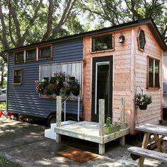 This is an HGTV tiny house that's for sale now. The 210 sq. ft. tiny home was built by a young woman and her father for her thesis project, and she is going to use the money from the sale to …