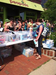 Peapods Sidewalk Sale 2012 June 8-9