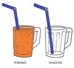 Pieno (full) - Vuoto (empty)