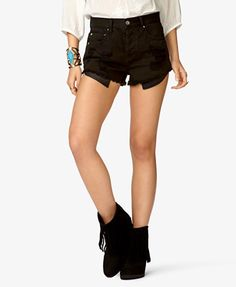 $17.80 Spiked Distressed Denim Shorts | FOREVER 21 - 2027706275, Coachella Study Guide
