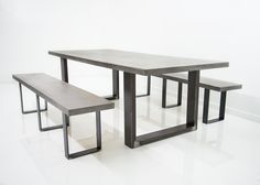 Santiago Concrete Table with U Legs