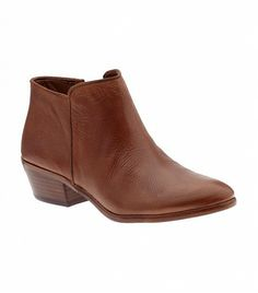 @Who What Wear - Casual Ankle Boots                 If there's one thing you can always wear with jeans, it's a simple pair of ankle boots.  Sam Edelman Petty Boots ($130) in Saddle Leather