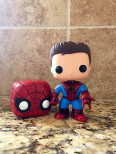 Custom Unmasked Spiderman / Peter Parker  by TheVinylObsession, $40.00
