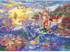 The Little Mermaid - Thomas Kinkade Disney Cross Stitch Kit