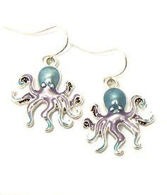 Sea Life / Octupus Fish Hook Drop Earring / AZERSEA018-SMU  Price : $15.00 http://www.arrascreations.com/Life-Octupus-Fish-Earring-AZERSEA018-SMU/dp/B00SQMTC8K