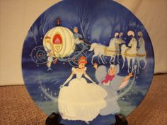 "1988 Disney Cinderella ""Bibbidi-Bobbidi-Boo"" Collector Plate by ECCENTRICRON on Etsy"