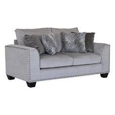 Empire Stone Loveseat in Soft Grey | Nebraska Furniture Mart