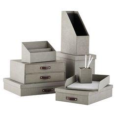 Grey Marten Collection // Memento Storage // Office Supplies // Container Store // simplyspaced.com