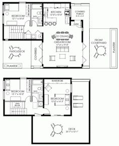 Small House Plan Contemporary Modern Cabin