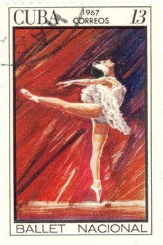 """1967 Cuba - Scene from the ballet """"Swan Lake"""""""