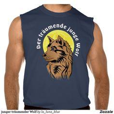 junger träumender Wolf Kurzarm Shirt
