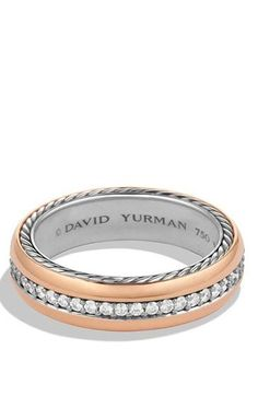 Rose Gold Band with Diamonds