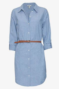 The season's staple shirt dress is cool in chambray. Joie shirtdress, $268, intermixonline.com.   - HarpersBAZAAR.com