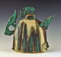 sandy-terry-pottery- Raku teapot