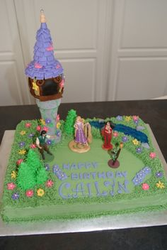 Tangled Birthday Cake By RGourley on CakeCentral.com