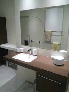 Our accessible bathroom -  Duravit Fogo, Alessi Birello,  wheelchair accessible