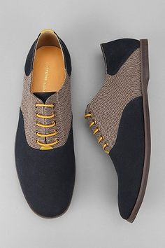 Men's oxfords. Adding colored laces is a great way to add a pop of color to any outfit.