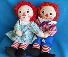 Raggedy Ann is a character created by American writer Johnny Gruelle (1880–1938) that appeared in a series of books he wrote and illustrated for young children. Raggedy Ann is a rag doll with red yarn for hair and has a triangle nose, with brother Raggedy Andy.