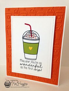 Cupcakes, Cards and Kim: ColourQ #310 and 2015 Fall Coffee Lovers Blog Hop take 2