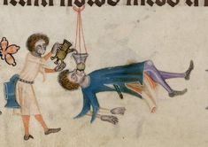 ...The party continues... Luttrell Psalter, 14th c.