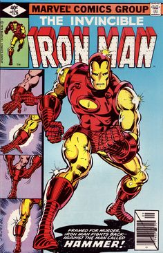 The Invincible Iron Man #126 (Marvel 1979) Cover Art by John Romita Jr. Inked by Bob Layton