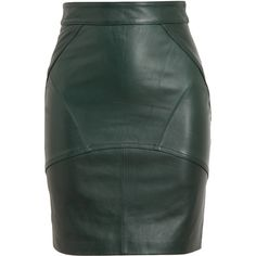 T BY ALEXANDER WANG Leather Pencil Skirt (£625) ❤ liked on Polyvore featuring skirts, bottoms, saias, leather, t by alexander wang, knee length pencil skirt, pencil skirt, t by alexander wang skirt and leather pencil skirt