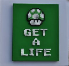 1UP Mushroom - Get a Life. Use code PINTEREST10 to get 10% off your order! #Mario #Nintendo