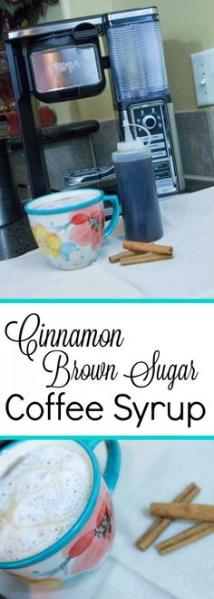 Cinnamon Brown Sugar Coffee Syrup So easy to make and delicious! Perfect to pair with the Ninja Coffee Bar. #sponsored