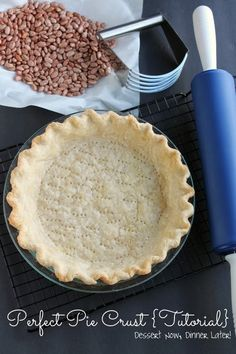 Perfect Pie Crust {Tutorial} - The recipe, how to, & why this or that of pie crust. | DessertNowDinnerLater.com #pie #crust #Thanksgiving #Christmas