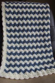 Diy Crafts - Baby Boy Blanket Crochet baby blanket Crochet boy by craftolove Chevron Baby Blankets, Baby Boy Crochet Blanket, Easy Baby Blanket, Baby Boy Blankets, Crochet Baby, Crochet Stitch, Crochet Blankets, Crotchet, Crochet For Beginners Blanket