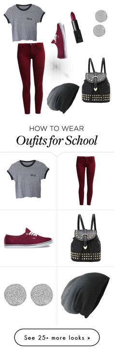 """School "" by sighhsky on Polyvore featuring Sisley, Vans, NARS Cosmetics and Karen Kane"