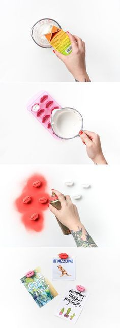 DIY Plaster Lip Magnets (click through for full tutorial!)