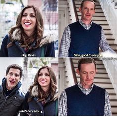 Brooklyn nine-nine >>>That disappointed expression on Kevin's face after Jake appears is priceless! Brooklyn Nine Nine Funny, Brooklyn 9 9, Best Tv Shows, Favorite Tv Shows, Faces Film, Detective, Jake Peralta, Memes, Andy Samberg