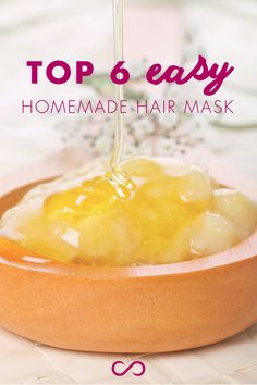 6 DIY Hair Mask Recipes You Can Make At Home: For all hair types! Learn more at http://hairfinity.com/blog/diy-hair-mask/
