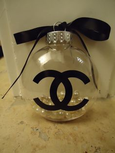 Chanel inspired Christmas tree ornament