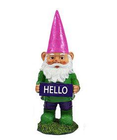 'Hello' Garden Gnome