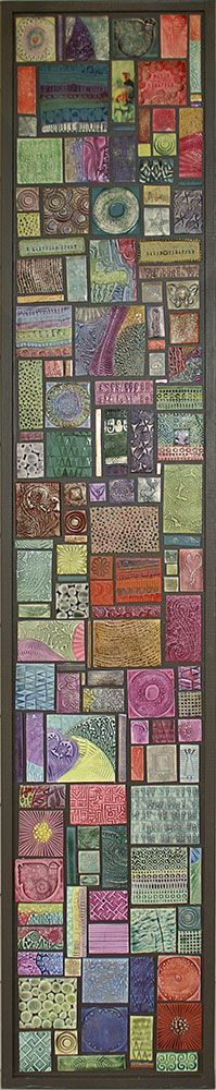 Create a tile mosaic like this for the front lobby - possibly add to it over the years - need to investigate surface treatments - glaze could be too glossy | Mosaic group effort | Polymer Clay Daily